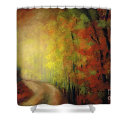 Into The Light Shower Curtain by Frances Marino