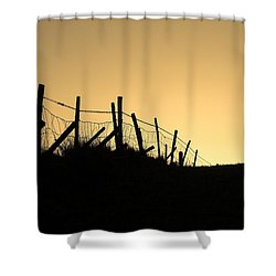 Into The Light Shower Curtain by Hazy Apple