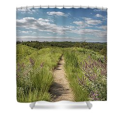 Shower Curtain featuring the photograph Into The Loess Hills by Susan Rissi Tregoning