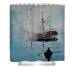 Into The Mist Shower Curtain by Alan Lakin