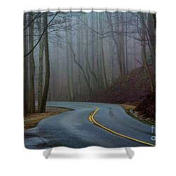 Shower Curtain featuring the photograph Into The Mist by Douglas Stucky