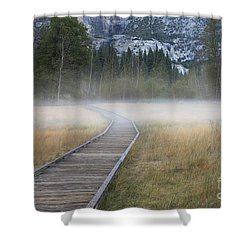 Shower Curtain featuring the photograph Into The Mist by Sandra Bronstein