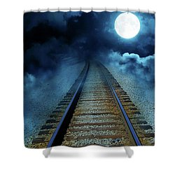 Into The Night Shower Curtain