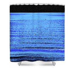 Into The Ocean Void Shower Curtain