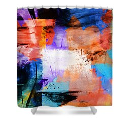 Shower Curtain featuring the painting Into The Open by Dan Sproul