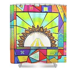 Into The Sun Shower Curtain by Jeremy Aiyadurai