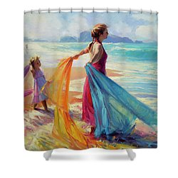 Into The Surf Shower Curtain
