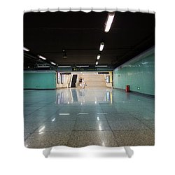 Into The Tunnel Shower Curtain