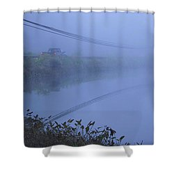 Into The Unknown Shower Curtain by Karol Livote