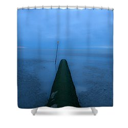 Shower Curtain featuring the photograph Into The Unknown by Menega Sabidussi