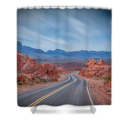 Into The Valley Of Fire Shower Curtain