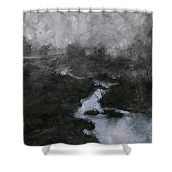 Into The Void 3 Shower Curtain