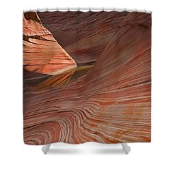 Into The Wave Shower Curtain by Mike  Dawson