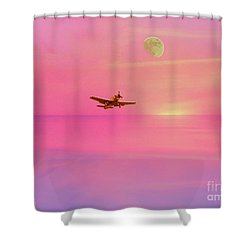 Into The Wild Pink Yonder Shower Curtain