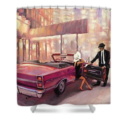 Shower Curtain featuring the painting Into You by Steve Henderson