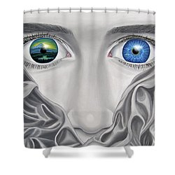 Into Your Sunrise Shower Curtain
