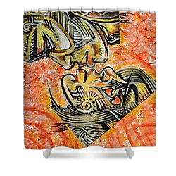 Intricate Intimacy Shower Curtain by RiA RiA