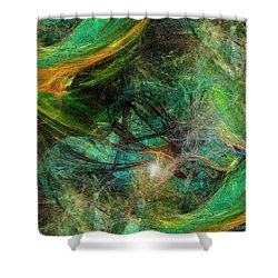 Intricate Love Shower Curtain by Michael Durst