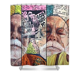 Introduction To Life, A Self Portrait Shower Curtain