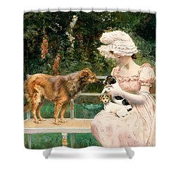 Introductions Shower Curtain by Charles Henry Tenre