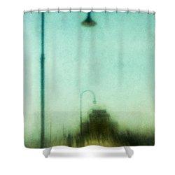 Introspective Shower Curtain by Andrew Paranavitana