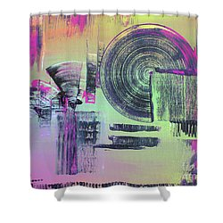 Shower Curtain featuring the painting Introvert by Melissa Goodrich