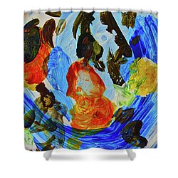 Shower Curtain featuring the painting Intuitive Painting  215 by Joan Reese