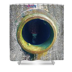 Shower Curtain featuring the mixed media Inturupted by Tony Rubino