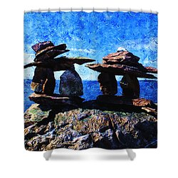 Inukshuk Shower Curtain