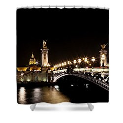 Shower Curtain featuring the photograph Invalides At Night 1 by Andrew Fare