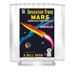 Invasion From Mars Shower Curtain