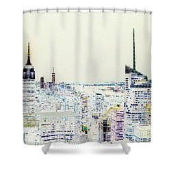 Shower Curtain featuring the photograph Inversion Layer by Alex Lapidus