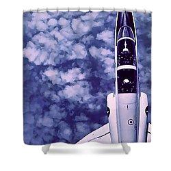 Inverted Flight Shower Curtain