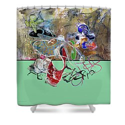 Invest In Imagination Shower Curtain by Antonio Ortiz