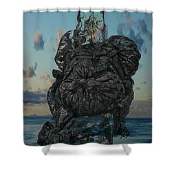 Shower Curtain featuring the photograph Invisable Lady by Joan Reese
