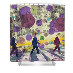 Invisible Men With Balloons Shower Curtain
