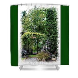 Shower Curtain featuring the photograph Inviting Entrance by Ellen O'Reilly