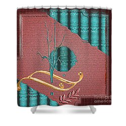 Shower Curtain featuring the digital art Inw_20a5562-sq_sap-run-feathers-to-come by Kateri Starczewski