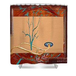 Shower Curtain featuring the digital art Inw_20a5563-sq_sap-run-feathers-to-come by Kateri Starczewski