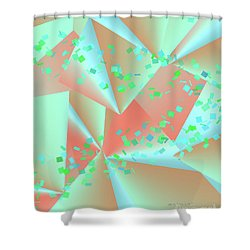 Shower Curtain featuring the digital art inw_20a6151-MH17 sweet currents by Kateri Starczewski