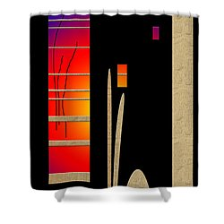 Shower Curtain featuring the digital art Inw_20a6466_mutual-awakening by Kateri Starczewski