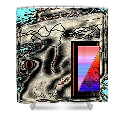 Shower Curtain featuring the digital art Inw_20a6505 Universal Mining by Kateri Starczewski