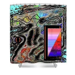 Shower Curtain featuring the digital art Inw_20a6507 Universal Mining_custom-spectrum by Kateri Starczewski