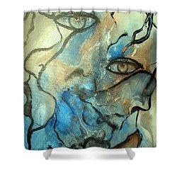 Inward Vision Shower Curtain by Raymond Doward