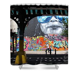 Inwood Street Art  Shower Curtain by Cole Thompson