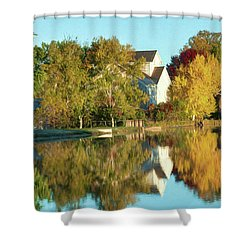 Iola Mill Fall View Shower Curtain