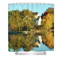Iola Mill Fall View Shower Curtain