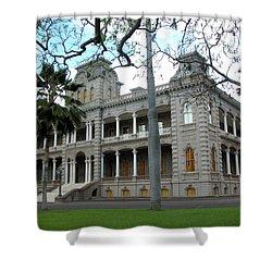 Shower Curtain featuring the photograph Iolani Palace, Honolulu, Hawaii by Mark Czerniec