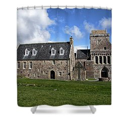 Iona Abbey Scotland Shower Curtain