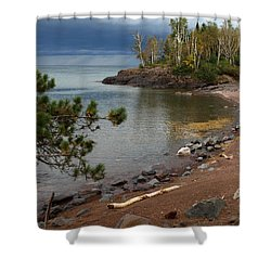 Shower Curtain featuring the photograph Iona's Beach by James Peterson
